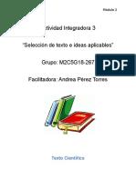 Selección de Texto e Ideas Aplicables