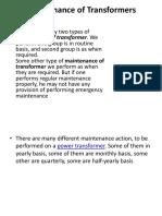 Transformer Maintenance PDF