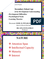 8.0 the Nature of Secondary School Age