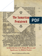 (SBL Resources for Biblical Study 72) Robert T. Anderson, Terry Giles - The Samaritan Pentateuch_ an Introduction to Its Origin, History, And Significance for Biblical Studies-Society of Biblical Lite