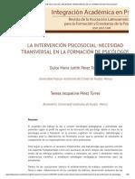 La Intervención Psicosocial_ Necesidad Transversal en La Formación de Psicólogos