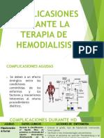 Complicasiones Durante La Terapia de Hemodialisis