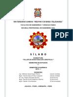 SÍLABO - Taller de Investigación Científica i