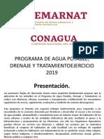 Programa de Agua Potable, Drenaje y Tratamiento Presentacion