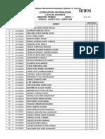 Listas de Alumnos de Nuevo Ingreso a licenciatura, UPN 151 Toluca 2019
