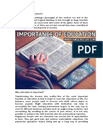 Importance of Educaction