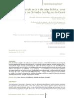 O Discurso Da Seca e Da Crise Hídrica-uma Análise Do Cintuão Das Águas No Ceará