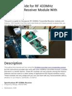 Rf433 mhz module