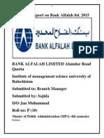 Internship Report on Bank Alfalah Ltd. 2