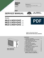 Mitsubishi Electric Heat Pump Outdoor Unit Service Manual_MUZ-LN25-50VGHZ-A1_OBH810A