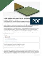 Jenis Tipe Socket Motherboard Processor AMD Dan Penjelasannya