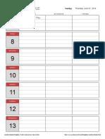Simple Weekly Schedule1