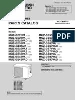 Mitsubishi Electric Heat Pump Parts Outdoor MUZ-GE.PDF
