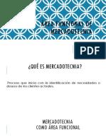 Área Funcional de Mercadotecnia