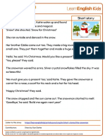 Short Stories the Snowman Transcript