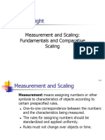 Measurment and Scaling