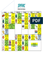 Sparc schedule