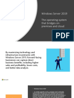 Windows Server 2019 Product Presentation