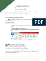 Information Sheet 3 Ms Word
