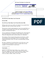 - The Nlp Secret That Makes Your Words Sell (Free eBook)