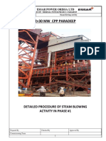 Steam Blowing Procedure Unit-1 Paradeep
