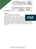 Data Mining and data warehousing notes