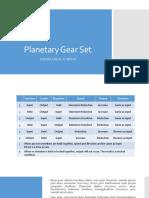 Planetary Gear Set