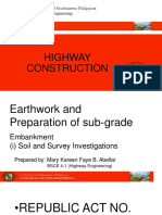 Report on Earthwork and Preparation of sub-grade
