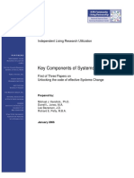 Systems Change Key Components1