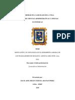 Motivaciòn y Su Influencia en El Desempeño Laboral de Los Trabajadores de Mi Banco, Agencia Lima Este, Lima, 2018