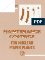 (Astm Manual Series_ Mnl 8) Astm Subcommittee D3310 on Protective Co - Manual on Maintenance Coatings for Nuclear Power Plants-Astm Intl (1991)