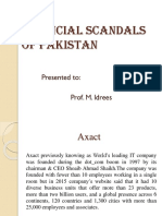 Financial Scams of Pakistan