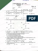 11th Physicsl First Mid Term Exam Original Question Paper Thanjore District Tamil Medium