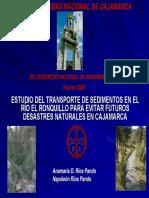 Estudio Del Transporte de Sedimentos en El Río El Ronquillo