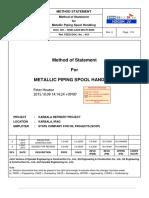 IONE-AA00-MS-PI-0009 Rev. 0_MS for Metallic Piping Spool Handling.pdf