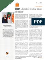 Lettre Du Président Directeur Général Du N01-FR