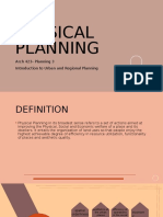Physical Planning Report 1