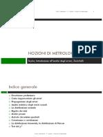 Nozioni di metrologia