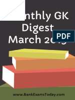 Monthly GK Digest March 2019