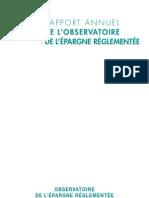 Le rapport 2009 de l'Observatoire de l'épargne réglementée