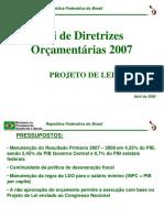 Principais Quadros PLDO 2007 SOF SPE