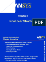 Nonlinear structural analysis ANSYS