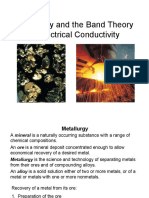 Metallurgy and the Band Theory of Electrical Conductivity