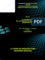 La tesis de Arquitectura