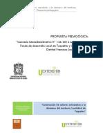 Propuesta Pedagogica y Modulos CI 126 2014