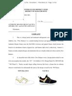 New Balance Athletics v. Authentic Brands - Complaint