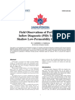 Field Observation PID Testing of Shallow Low Permaebility Gas Wells