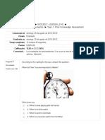 Task 1- Prior Knowledge Assessment