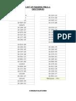 List of Passers Sec b Pmls1