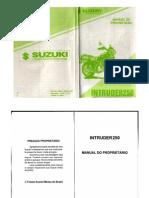 Intruder 250 Manual Do Proprietario